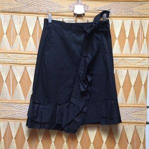 Sonia Rykiel Paris Size 38 US 6 Black Wrap Skirt